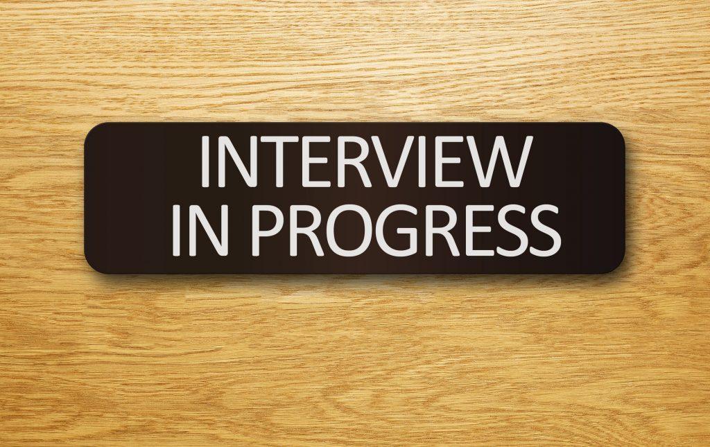 Foto stres la interviu