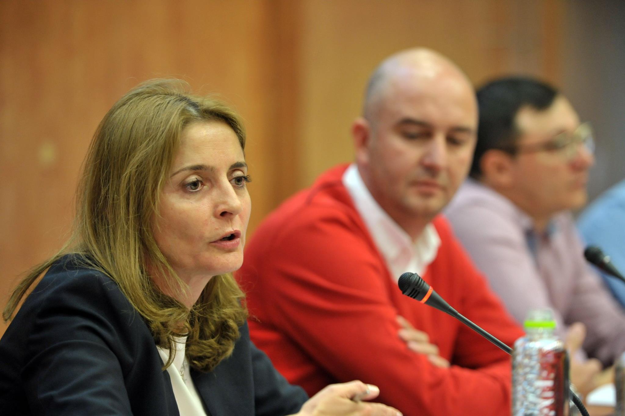 Sorana Baciu explicând poziția statului, la Forbes IMM