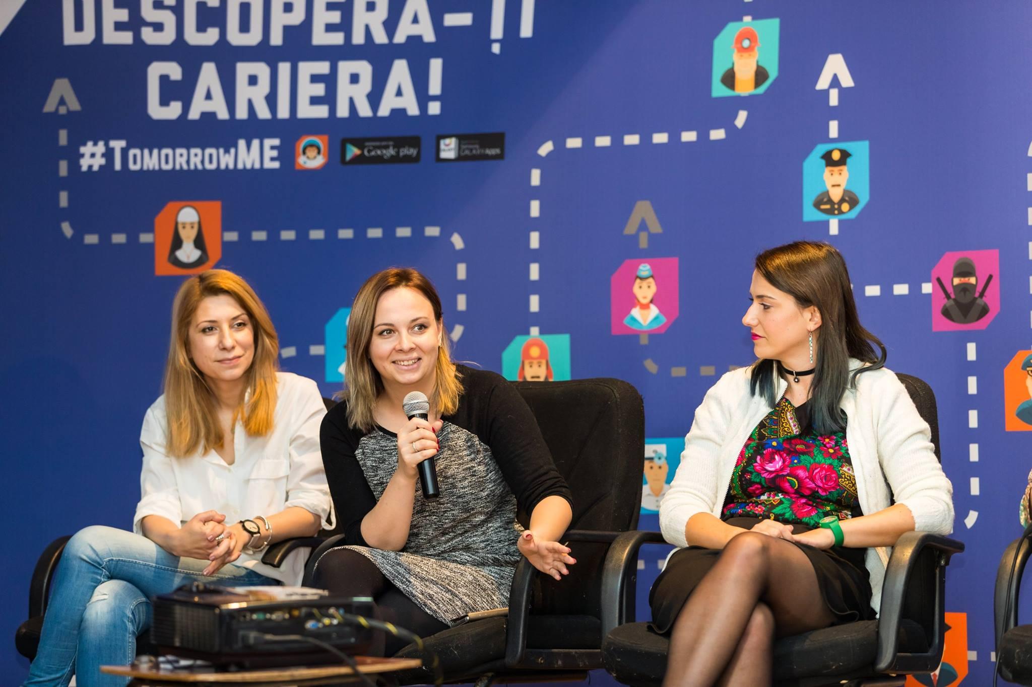 Laura Chiculiță, CMO eJobs România, a fost unul dintre speakerii evenimentului TomorrowMe