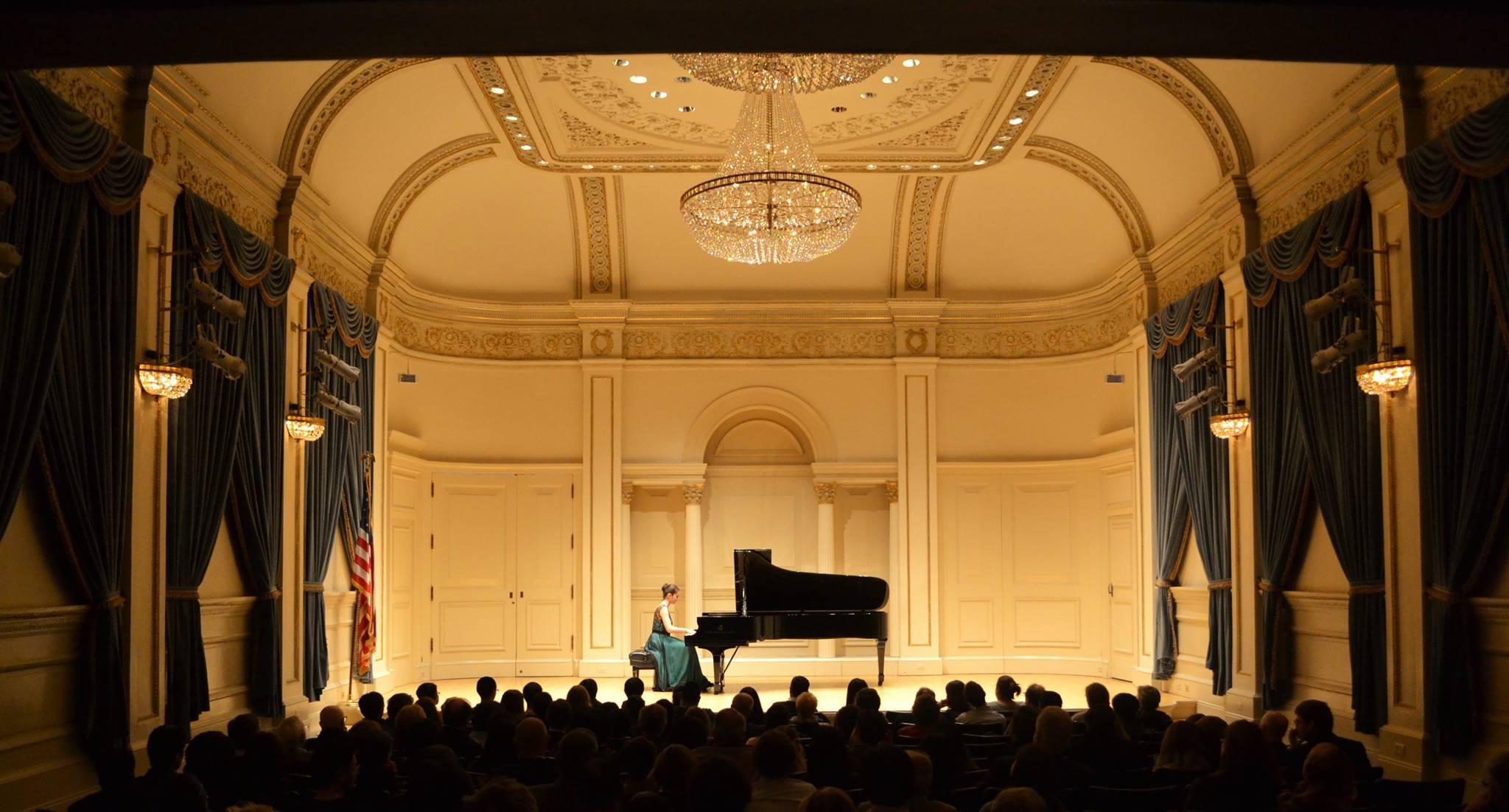 Sînziana Mircea, în cadrul recitalului de la Carnegie Hall