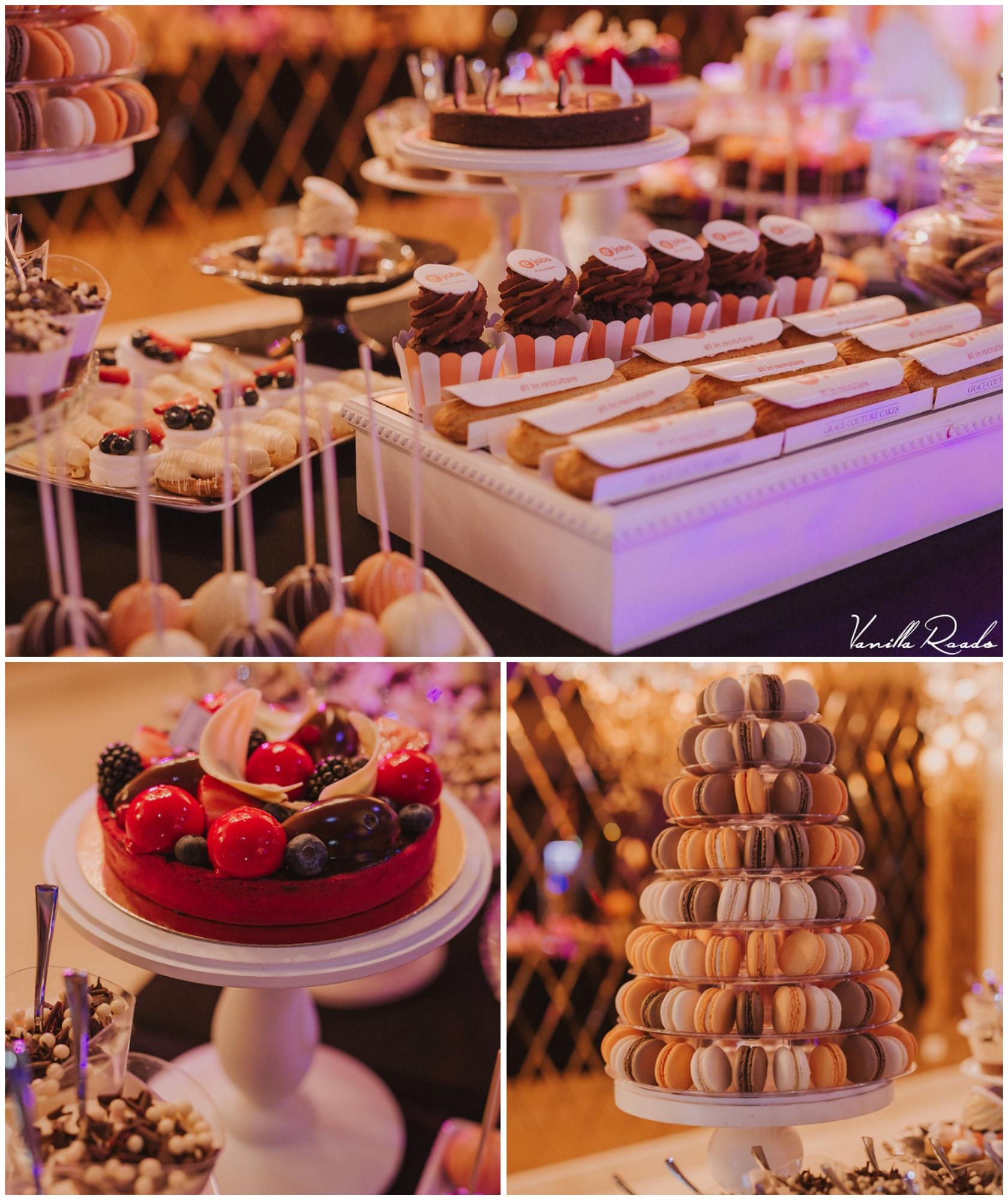 O mică parte din candy bar-ul realizat de Grace Couture Cakes pentru #HappyParty eJobs 2016