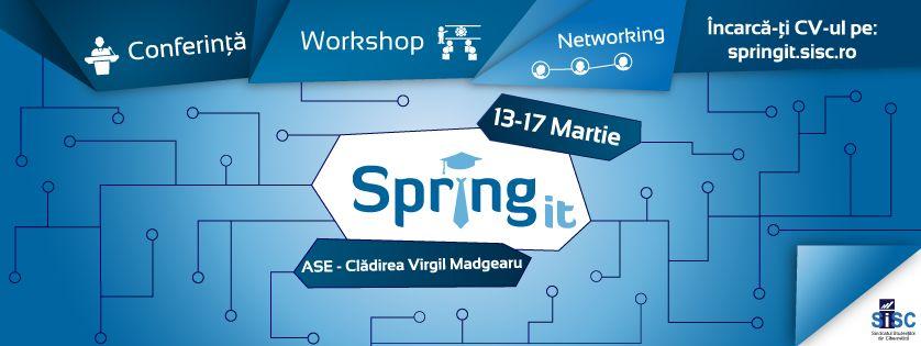 Banner pentru eveniment SpringIT 2017