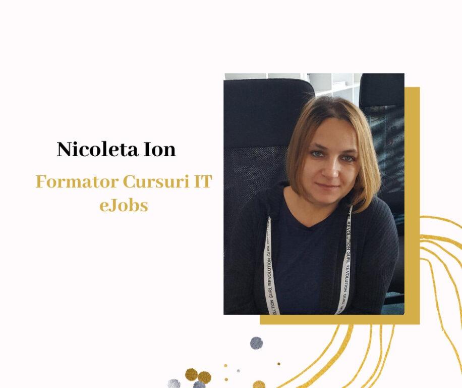 Nicoleta Ion - Formator Cursuri IT eJobs